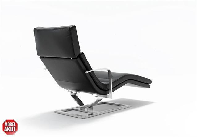original rolf benz relax liege 568 in leder schwarz neu ebay. Black Bedroom Furniture Sets. Home Design Ideas