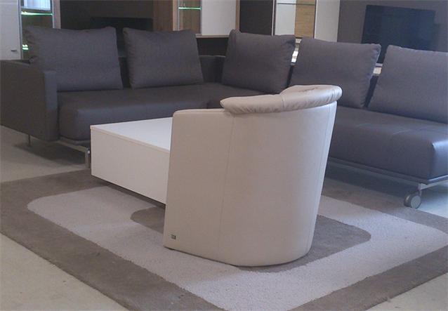 original rolf benz cocktail sessel st se 390 in leder dickleder hellbeige grau n ebay. Black Bedroom Furniture Sets. Home Design Ideas