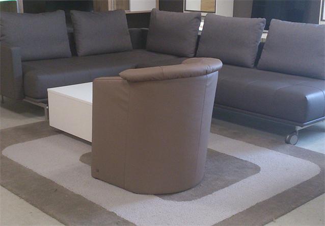 original rolf benz cocktail sessel st se 390 in dickleder 60 schlamm ebay. Black Bedroom Furniture Sets. Home Design Ideas