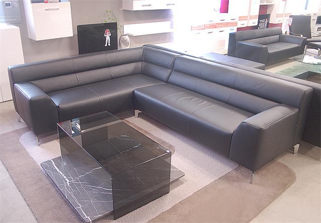 sofa rolf benz neo sob 300 ecksofa links in leder schwarz. Black Bedroom Furniture Sets. Home Design Ideas
