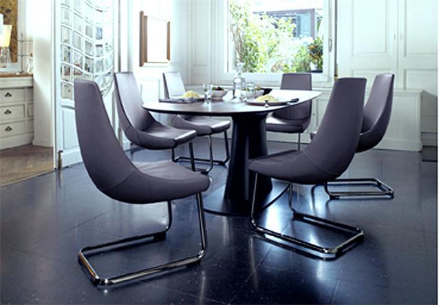 rolf benz freischwinger stuhl stu 690 leder schwarz gestell mattchrom ebay. Black Bedroom Furniture Sets. Home Design Ideas