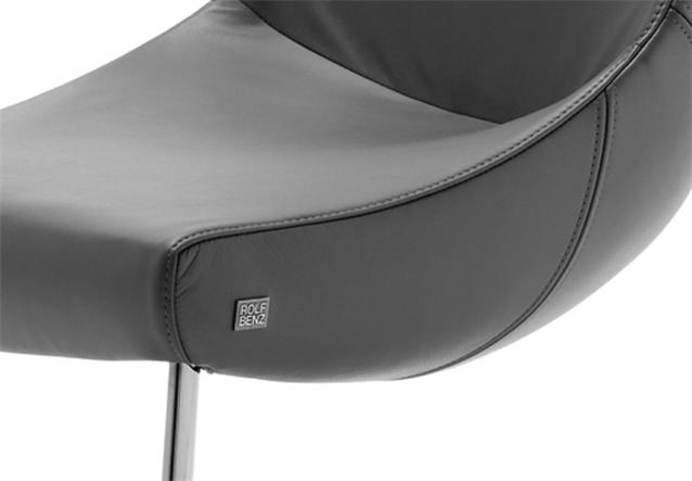freischwinger stuhl rolf benz stu 690 leder schwarz gestell mattchrom. Black Bedroom Furniture Sets. Home Design Ideas