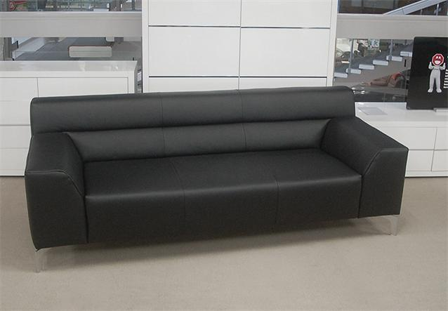 sofabank rolf benz neo sob 300 223 leder schwarz ebay. Black Bedroom Furniture Sets. Home Design Ideas