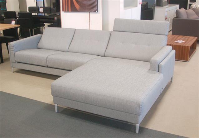 ecksofa rolf benz pronto in stoff hellgrau anreihsofa mit. Black Bedroom Furniture Sets. Home Design Ideas
