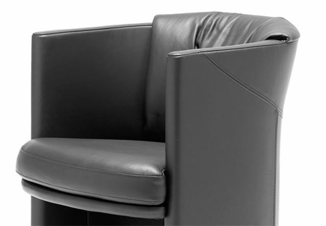 sessel stuhl rolf benz st se 7500 f r wohnzimmer esszimmer echt leder schwarz ebay. Black Bedroom Furniture Sets. Home Design Ideas