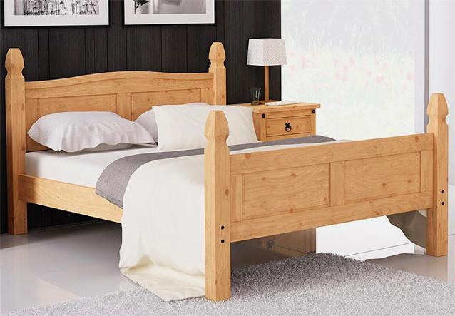 bett schlafzimmerbett doppelbett in pinie massiv 180x200. Black Bedroom Furniture Sets. Home Design Ideas