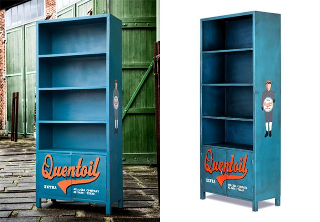 regal cuba schrank quentoil metall retro look ebay. Black Bedroom Furniture Sets. Home Design Ideas