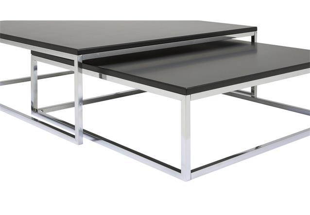 couchtisch molly 30 tisch schwarz metallgestell satztisch beistelltisch 2er set ebay. Black Bedroom Furniture Sets. Home Design Ideas