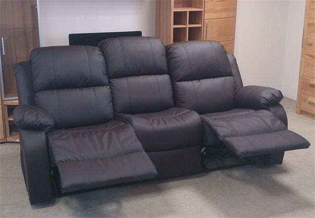 sofa lakos 3 sitzer couch polsterm bel in braun mit relaxfunktion ebay. Black Bedroom Furniture Sets. Home Design Ideas
