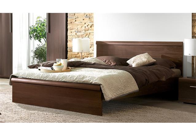 futonbett mestre bett bettgestell in eiche sonoma dunkel mit kopfteil 160x200 cm ebay. Black Bedroom Furniture Sets. Home Design Ideas