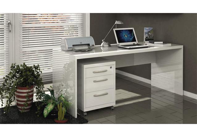 schreibtisch kronos b rotisch computertisch pc tisch wei hochglanz lackiert ebay. Black Bedroom Furniture Sets. Home Design Ideas