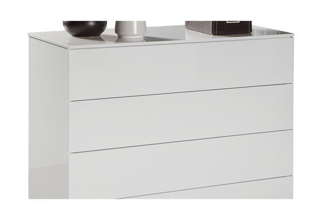 kommode privilegio schubkastenkommode in wei hochglanz 108x85x44 cm ebay. Black Bedroom Furniture Sets. Home Design Ideas