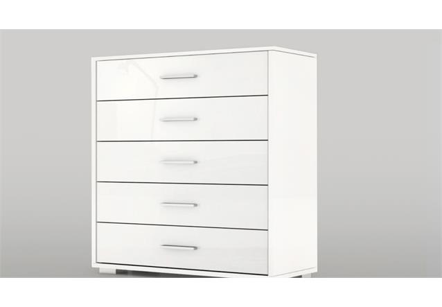 kommode 3 cosmo schubkastenkommode in wei hochglanz ebay. Black Bedroom Furniture Sets. Home Design Ideas