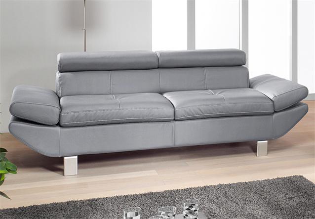 sofa carrier polsterm bel mit relaxfunktion 3er sofa in grau 223 cm ebay. Black Bedroom Furniture Sets. Home Design Ideas
