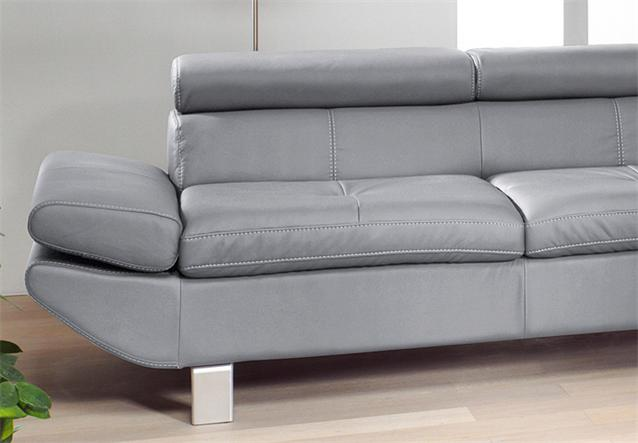 sofa carrier polsterm bel mit relaxfunktion 3er sofa in grau 223 cm ebay. Black Bedroom Furniture Sets. Home Design Ideas