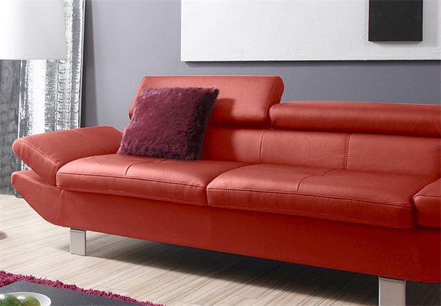 2er Sofa Carrier Polsterm Bel Mit Relaxfunktion In Rot 208 Cm Ebay