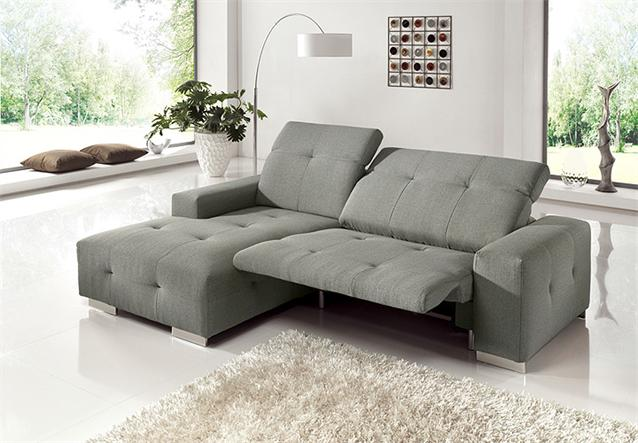 ecksofa francisco sofa grau sand mit elektrischer. Black Bedroom Furniture Sets. Home Design Ideas