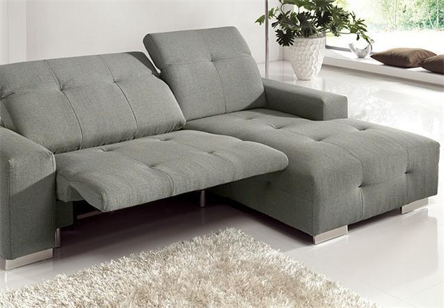 ecksofa francisco sofa grau sand mit elektrischer relaxfunktion 257 cm ebay. Black Bedroom Furniture Sets. Home Design Ideas