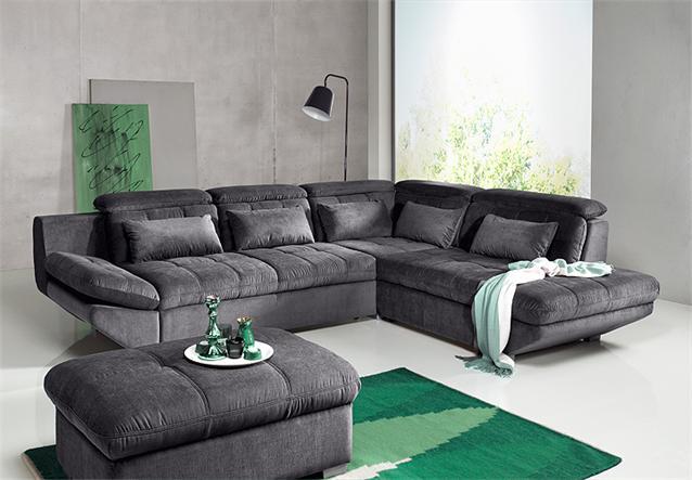 Wohnlandschaft eternity sofa mocca schwarz rechts links for Ecksofa eternity