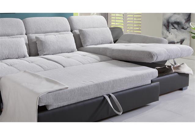 Wohnlandschaft eternity sofa ecksofa wei hellgrau schwarz for Wohnlandschaft ebay