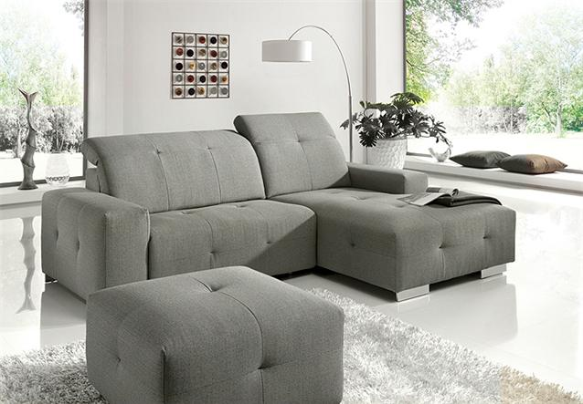 ecksofa francisco sofa wohnlandschaft sand grau elektrische relaxfunktion ebay. Black Bedroom Furniture Sets. Home Design Ideas
