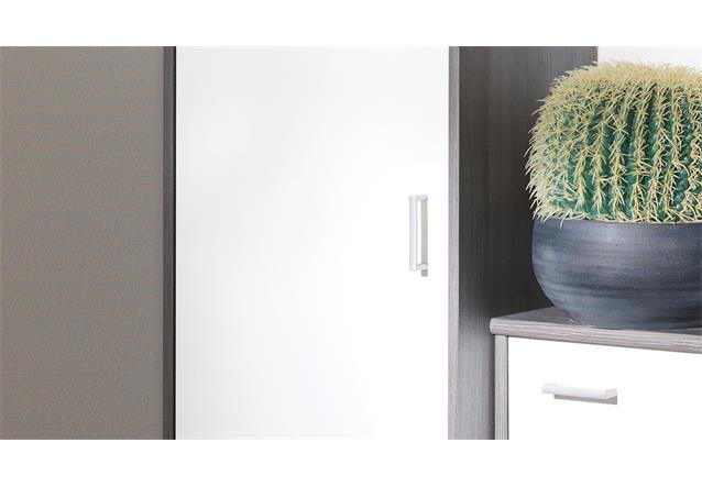 garderobenset soft plus garderobe schuhschrank silbereiche wei cs schmal ebay. Black Bedroom Furniture Sets. Home Design Ideas