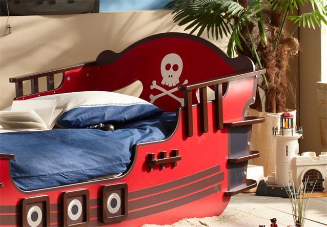 ... SHARK Piratenbett Seeräuber Schiff Boot Bett rot braun 90x200 eBay