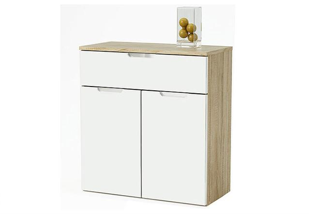 sideboard liso kommode in wei hochglanz sonoma eiche. Black Bedroom Furniture Sets. Home Design Ideas