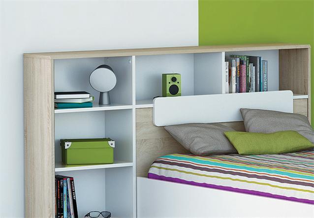 bett kombi game kinder jugendzimmer wei sonoma eiche 90x200 cm ebay. Black Bedroom Furniture Sets. Home Design Ideas