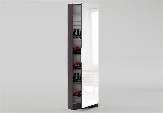 schuhschrank zapatero schrank in wenge dekor spiegelt r ebay. Black Bedroom Furniture Sets. Home Design Ideas