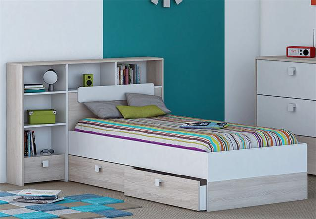 bett kombi game kinder jugendzimmer wei akazie 90x190 cm ebay. Black Bedroom Furniture Sets. Home Design Ideas