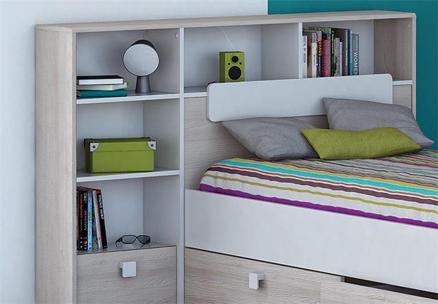 bett kombi game kinder jugendzimmer wei akazie 90x190 cm ebay. Black Bedroom Furniture Sets. Home Design Ideas