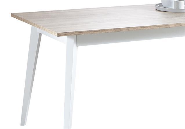 esstisch nature tisch esszimmertisch in sonoma eiche geb rstet und wei 160. Black Bedroom Furniture Sets. Home Design Ideas