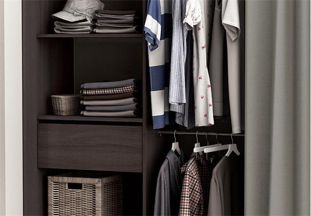 kleiderschrank chicago garderobe regal schrank vulcano. Black Bedroom Furniture Sets. Home Design Ideas