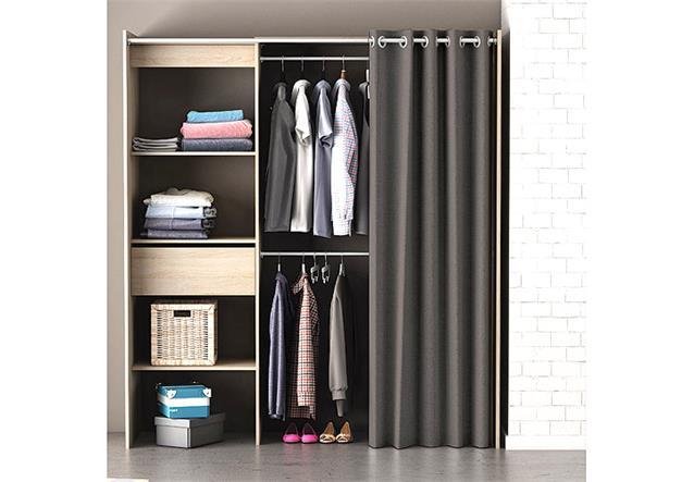 kleiderschrank garderobe chicago regal schrank sonoma. Black Bedroom Furniture Sets. Home Design Ideas