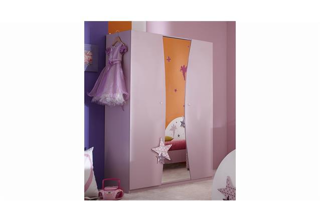 Kleiderschrank Fee 3 T Ren Spiegel Kinderzimmer Wei