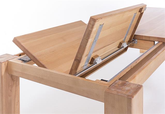 esstisch tisch esszimmertisch kernbuche massiv ge lt ausziehbar in 3 gr en. Black Bedroom Furniture Sets. Home Design Ideas