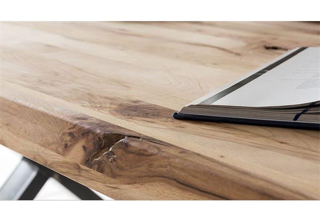 esstisch leife tisch esszimmertisch x form buche massiv und metall schwarz 200 ebay. Black Bedroom Furniture Sets. Home Design Ideas