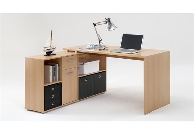 schreibtisch lexx winkelkombination tisch b rotisch in buche ebay. Black Bedroom Furniture Sets. Home Design Ideas