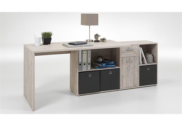 schreibtisch lexx eckschreibtisch pc tisch b rotisch sandeiche. Black Bedroom Furniture Sets. Home Design Ideas