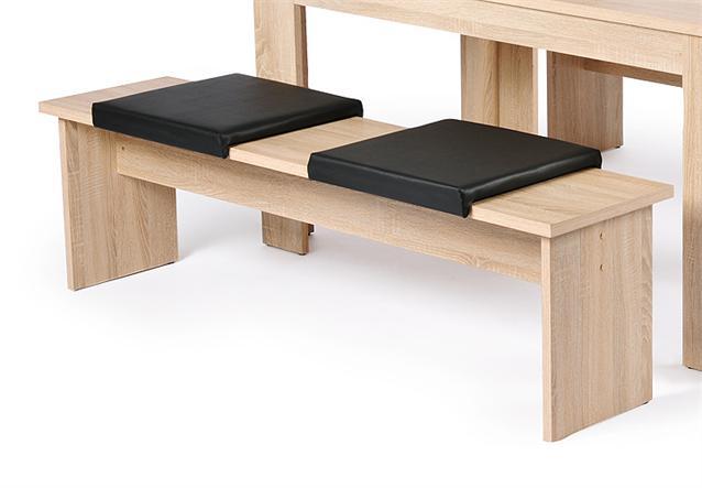 klemmkissen madagaskar sitzkissen lederlook schwarz f r b nke ebay. Black Bedroom Furniture Sets. Home Design Ideas