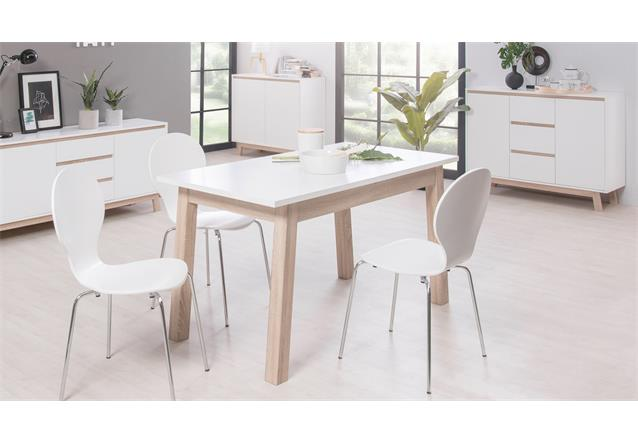 esstisch apart 7 k chentisch ausziehtisch wei sonoma eiche 140 190x85 cm ebay. Black Bedroom Furniture Sets. Home Design Ideas