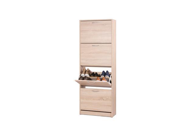 schuhschrank mainz schuhkipper schuhregal in 2 gr en eiche sonoma buche wei. Black Bedroom Furniture Sets. Home Design Ideas