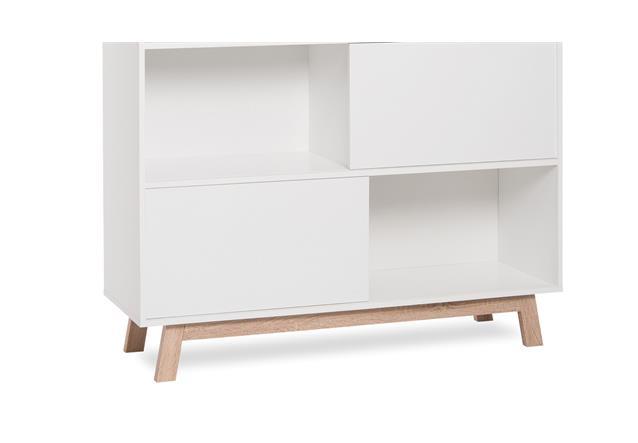 regal kommode apart 5 mit 3 schiebet ren wendbar wei sonoma eiche ebay. Black Bedroom Furniture Sets. Home Design Ideas