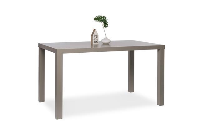 esstisch prino esszimmertisch k chentisch mdf in grau hochglanz lackiert 140x80. Black Bedroom Furniture Sets. Home Design Ideas