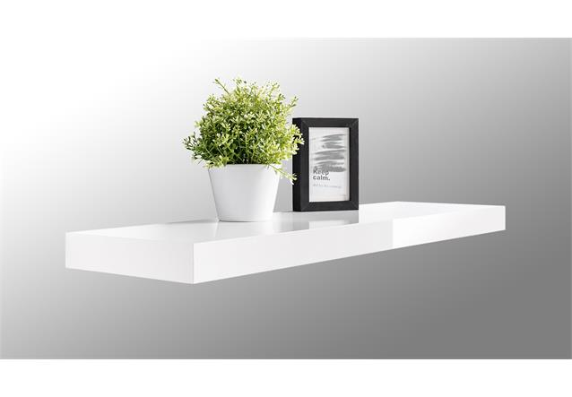 wandboard tuna lack wandregal h ngeboard in wei hochglanz lackiert 90 cm. Black Bedroom Furniture Sets. Home Design Ideas