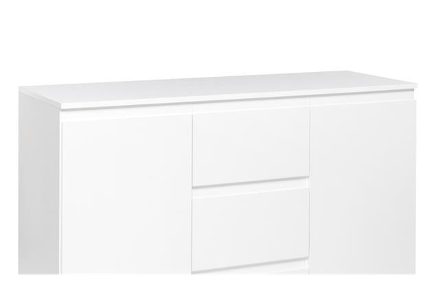 sideboard blanc 4 grifflose kommode anrichte schrank wei 2 t rig 120x80 cm ebay. Black Bedroom Furniture Sets. Home Design Ideas
