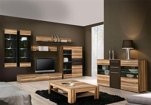 sideboard savoy kommode anrichte in baltimore walnuss braun inkl led ebay. Black Bedroom Furniture Sets. Home Design Ideas