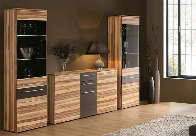 sideboard savoy anrichte kommode stauraumelement in baltimore walnuss braun ebay. Black Bedroom Furniture Sets. Home Design Ideas