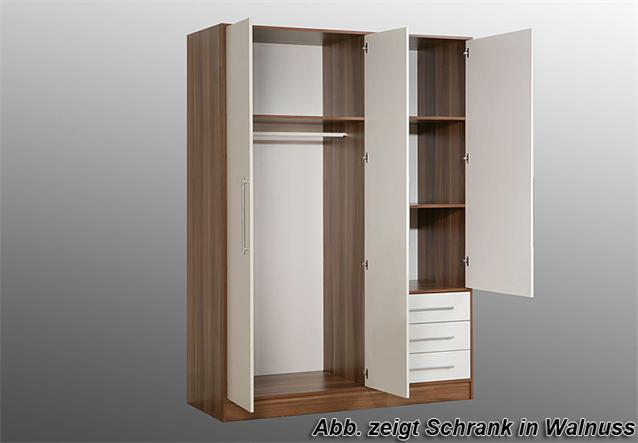 kleiderschrank jupiter schrank in sonoma eiche s gerau und wei 144 cm ebay. Black Bedroom Furniture Sets. Home Design Ideas
